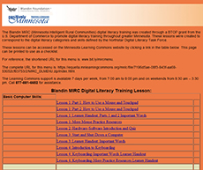 MIRC Digital Literacy Training